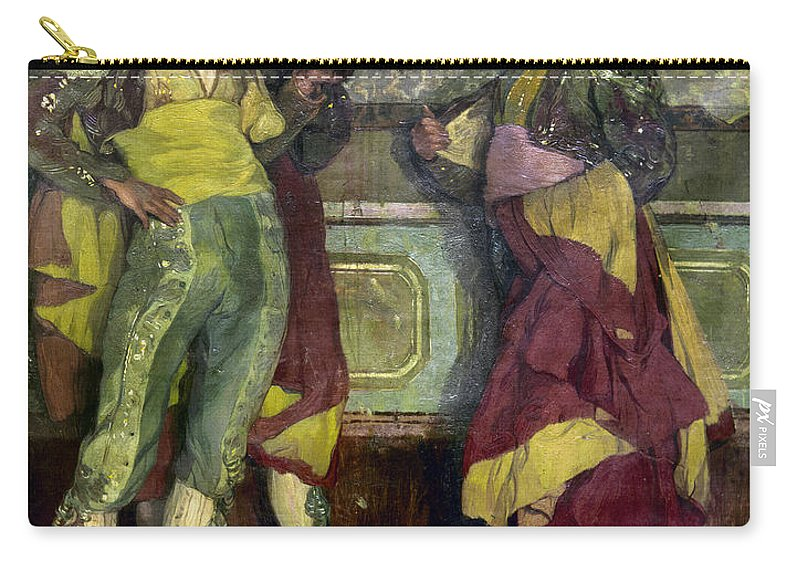 1913 Carry-all Pouch featuring the photograph Zuloaga: Bullfighters by Granger