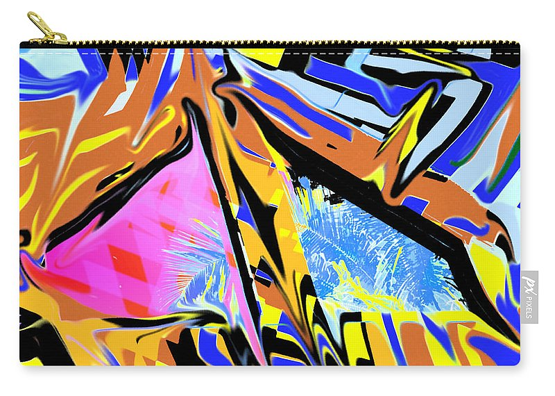 Abstract Carry-all Pouch featuring the digital art Zulu by Ian MacDonald
