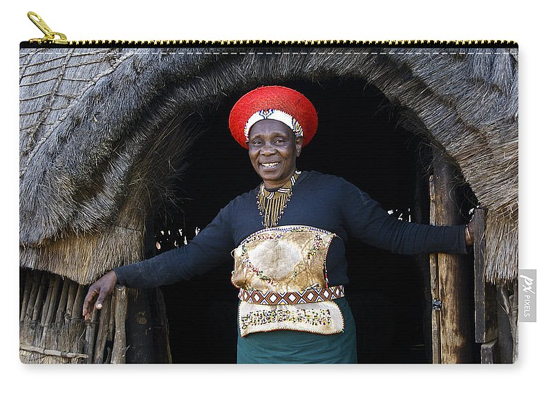Africa Carry-all Pouch featuring the photograph Zulu Woman by Michele Burgess