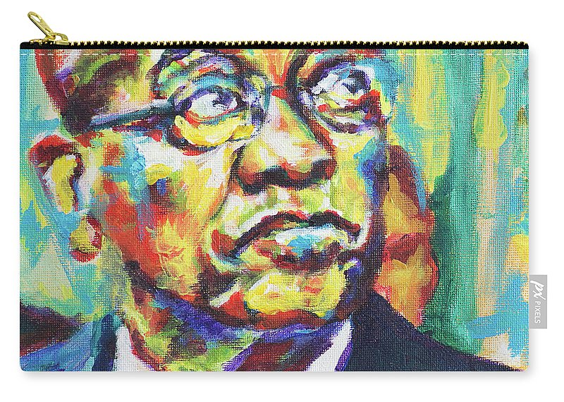 Zuma Carry-all Pouch featuring the painting Zuma by Larry Ger