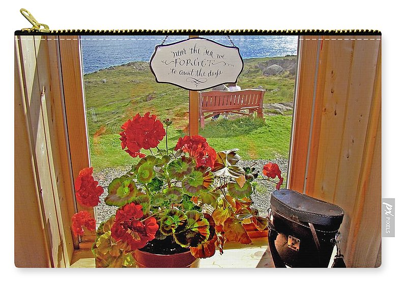 Ferryland Carry-all Pouch featuring the photograph 021 By The Sea by Werner Koehler
