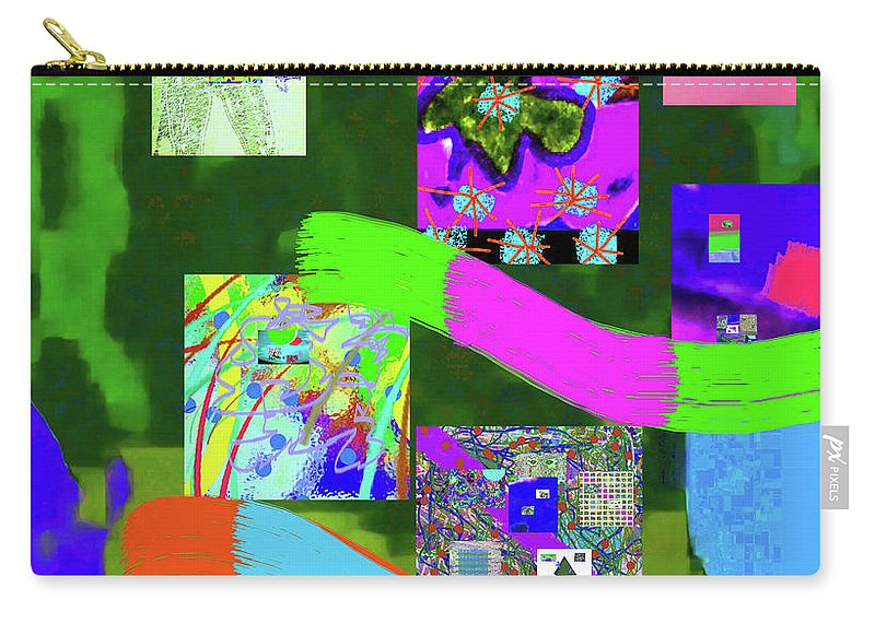 Walter Paul Bebirian Carry-all Pouch featuring the digital art 10-4-2015babcdefghijklmnopqrtuvwxyzabcdefghijk by Walter Paul Bebirian