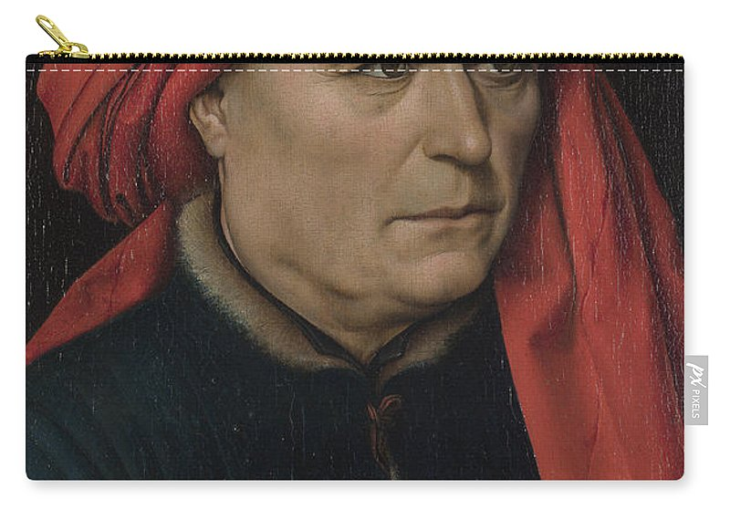 Robert Campin Carry-all Pouch featuring the painting A Man by Robert Campin