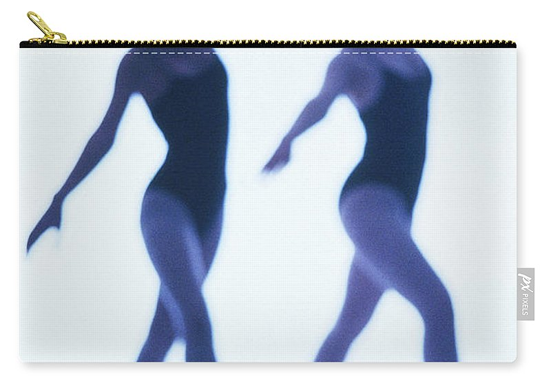 Ballet Dancer Carry-all Pouch featuring the photograph A Silhouette Of Two Young Women by George Doyle