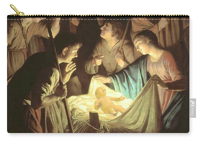 17th Century Carry-all Pouch featuring the painting Adoration Of The Shepherds by Gerard van Honthorst
