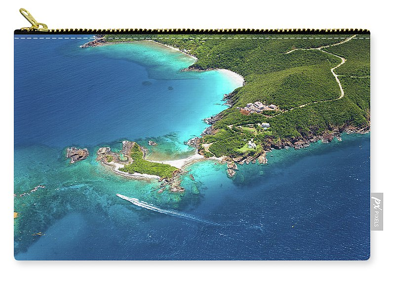 Water's Edge Carry-all Pouch featuring the photograph Aerial Shot Of West End, St. Thomas, Us by Cdwheatley