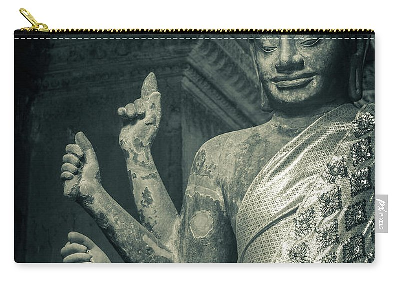 Statue Carry-all Pouch featuring the photograph Angkor Wat by Www.sergiodiaz.net