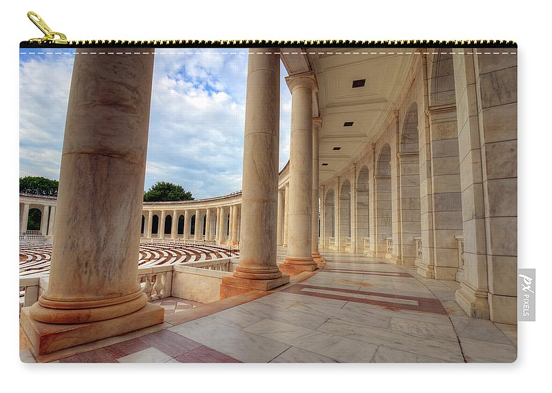 Craig Fildes Photography Carry-all Pouch featuring the photograph Arlington National Cemetery Memorial Amphitheater by Craig Fildes