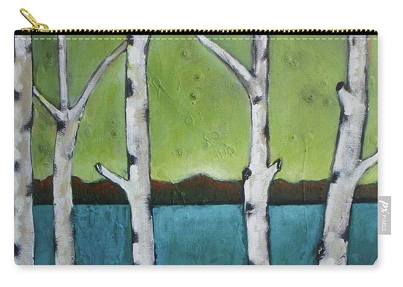 Aspen Carry-all Pouch featuring the photograph Aspen Trees On The Lake by Vesna Antic