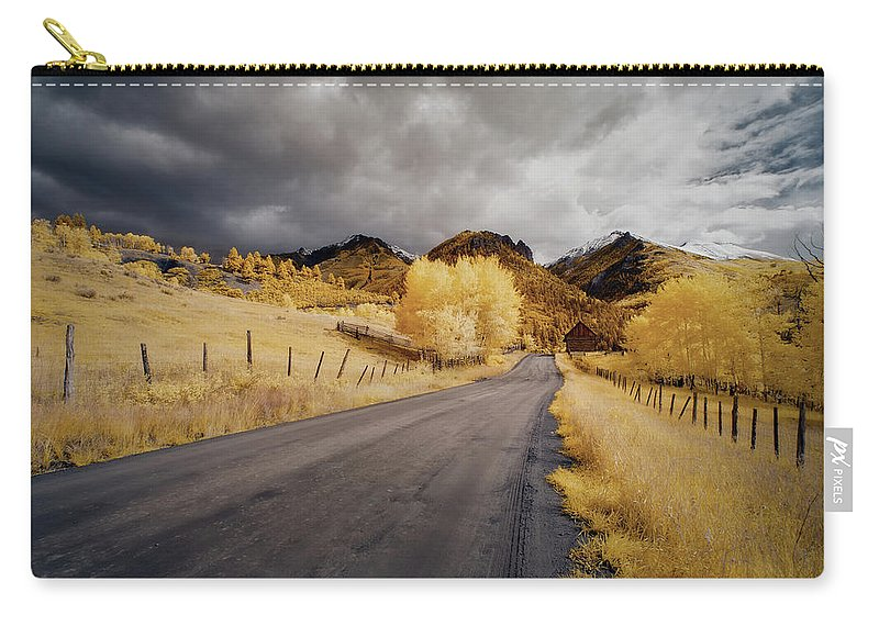 Colorado Carry-all Pouch featuring the photograph Back Road In Colorado 1 by Jon Glaser