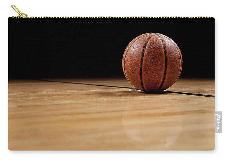 Ball Carry-all Pouch featuring the photograph Basketball by Garymilner