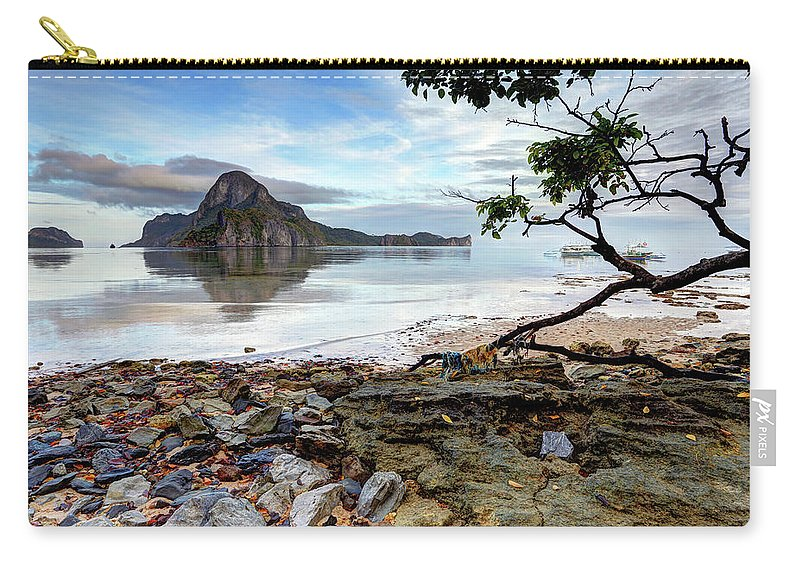 Water's Edge Carry-all Pouch featuring the photograph Beautiful El Nido Landscape by Vuk8691