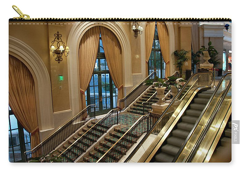 Arch Carry-all Pouch featuring the photograph Bellagio Interior by Mitch Diamond