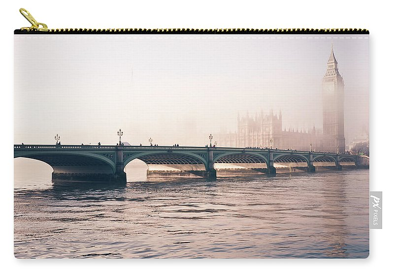 Clock Tower Carry-all Pouch featuring the photograph Big Ben And Houses Of Parliament In The by Cirano83