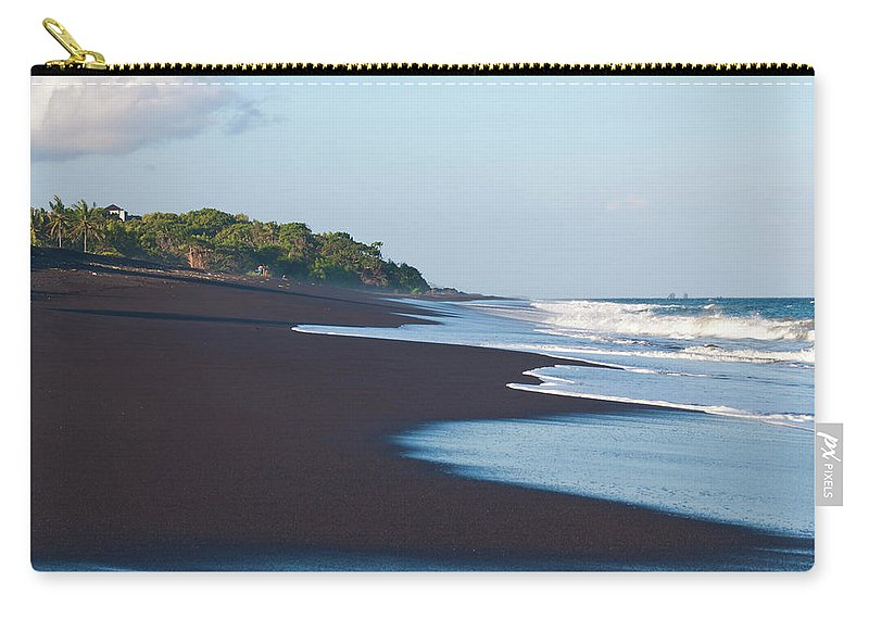 Long Carry-all Pouch featuring the photograph Black Sand Beach by Davorlovincic