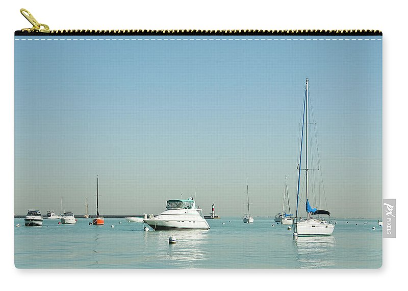 Billabong Carry-all Pouch featuring the photograph Boats On Lake Michigan by Weible1980