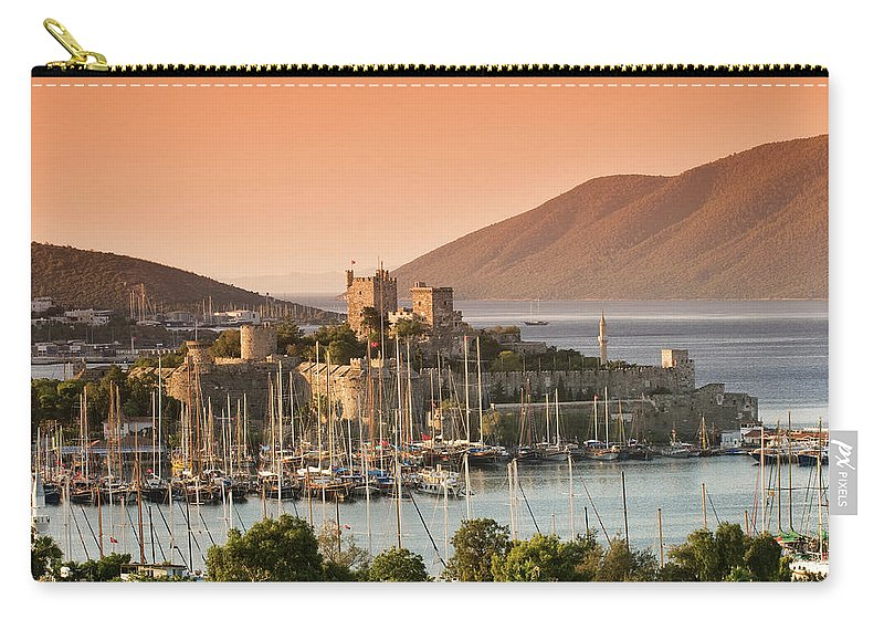 Built Structure Carry-all Pouch featuring the photograph Bodrum Castle by Izzet Keribar