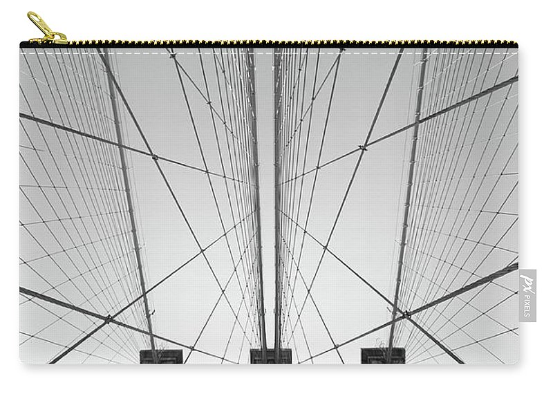 Arch Carry-all Pouch featuring the photograph Brooklyn Bridge by Jimschemel