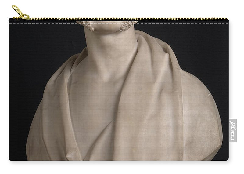 Robert William Sievier Carry-all Pouch featuring the painting Bust Portrait Of Wynn Ellis Mp by Robert William Sievier