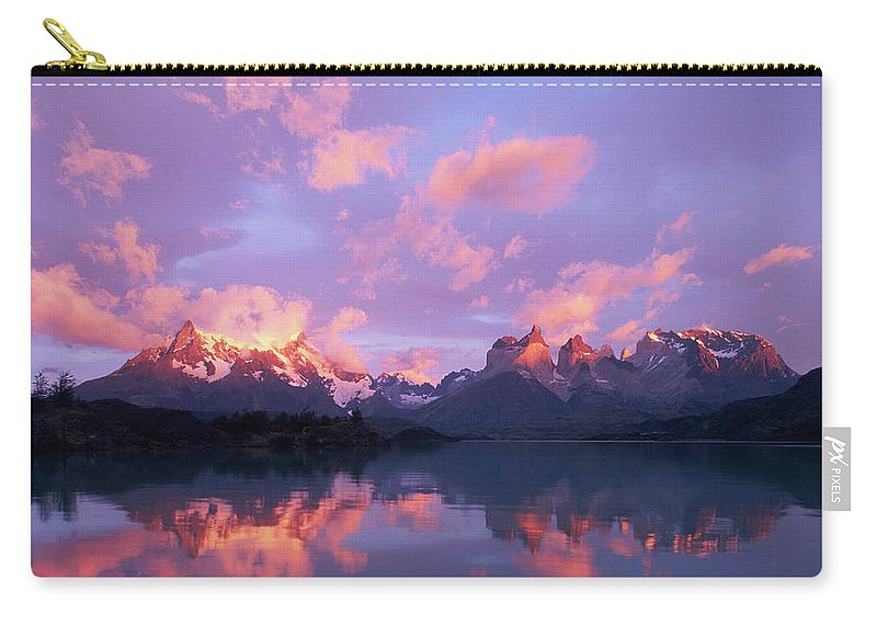 Scenics Carry-all Pouch featuring the photograph Chile, Patagonia, Torres Del Paine Np by Paul Souders
