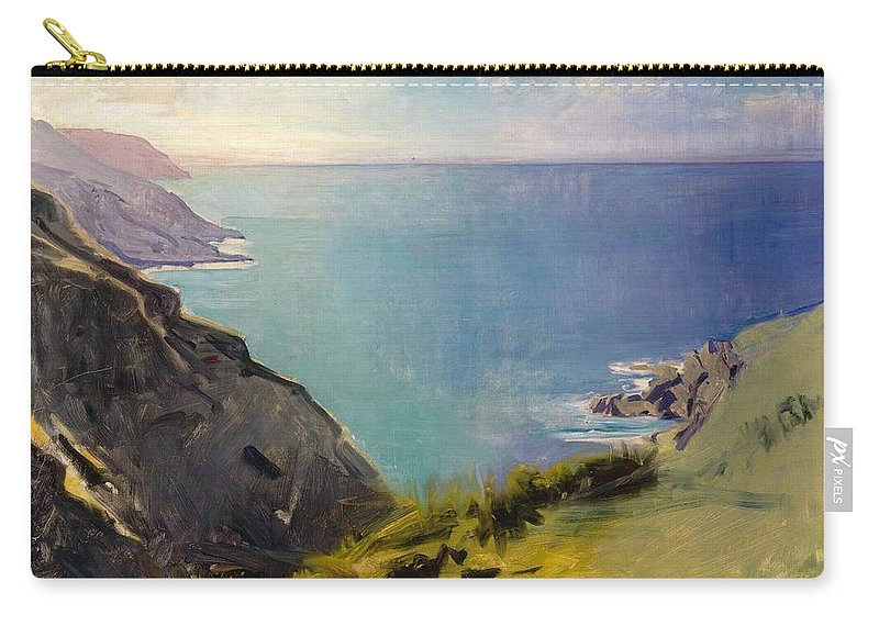 Abbott Handerson Thayer Carry-all Pouch featuring the painting Cornish Headlands by Abbott Handerson Thayer