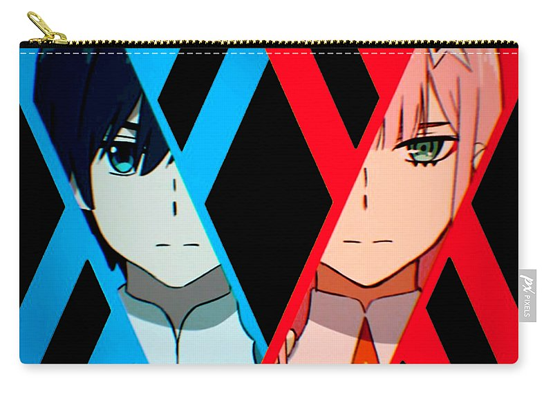 Zero Two Carry-all Pouch featuring the digital art Darling In The Franxx by Mario David