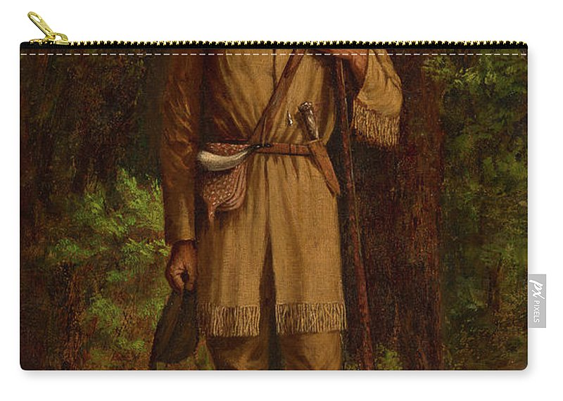Davy Crockett Carry-all Pouch featuring the painting Davy Crockett by William Henry Huddle