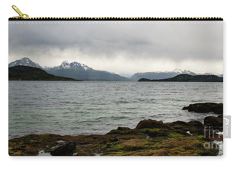 Ensenada Bay Carry-all Pouch featuring the photograph Ensenada Bay, Tierra Del Fuego National Park, Ushuaia, Argentina by Yefim Bam