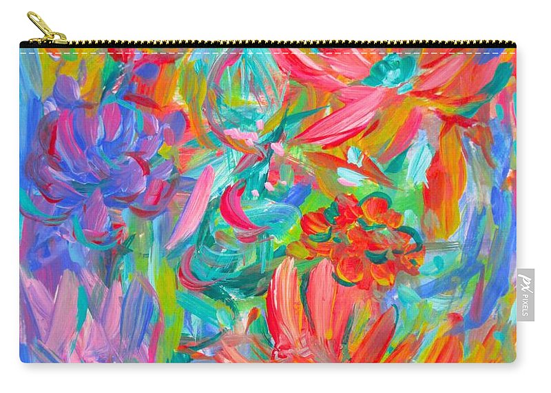 Abstract Carry-all Pouch featuring the painting Flower Twirl by Kendall Kessler