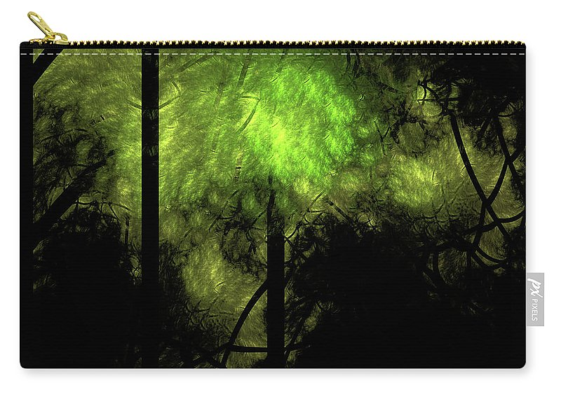 Forest Carry-all Pouch featuring the digital art Forest Light by Gary Blackman