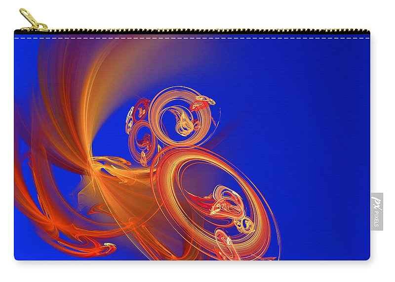 Motion Carry-all Pouch featuring the digital art Frantic by Werner Hilpert