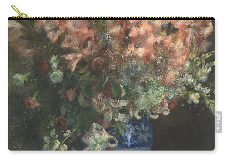 Pierre-auguste Renoir Carry-all Pouch featuring the painting Gladioli In A Vase by Pierre Auguste Renoir