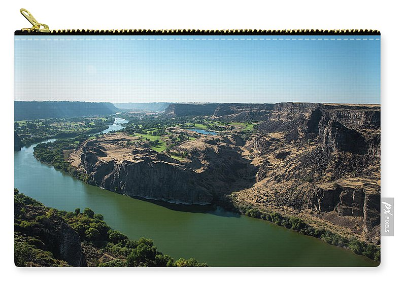 Green Snake River Carry-all Pouch featuring the photograph Green Snake River by Tom Cochran