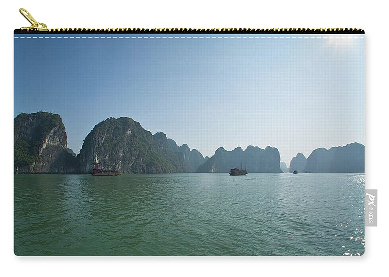 Scenics Carry-all Pouch featuring the photograph Ha Long Bay by By Thomas Gasienica
