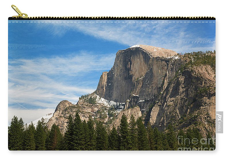 Half Dome Carry-all Pouch featuring the photograph Half Dome, Yosemite National Park by Yefim Bam