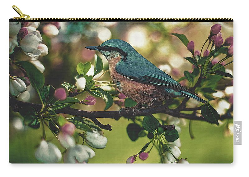 Bird Carry-all Pouch featuring the photograph Harbinger Of Spring by Pixabay