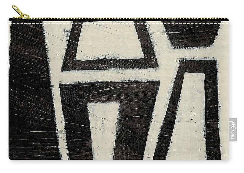 Abstract Carry-all Pouch featuring the painting Hieroglyph Vii by June Erica Vess