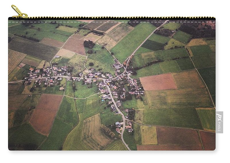 Tranquility Carry-all Pouch featuring the photograph High Angle Aerial View Of Croatia by Yulia Reznikov