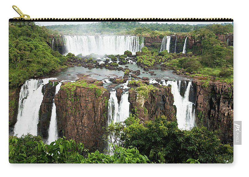Scenics Carry-all Pouch featuring the photograph Iguazu Falls, Argentina, Brazil by Original Photography