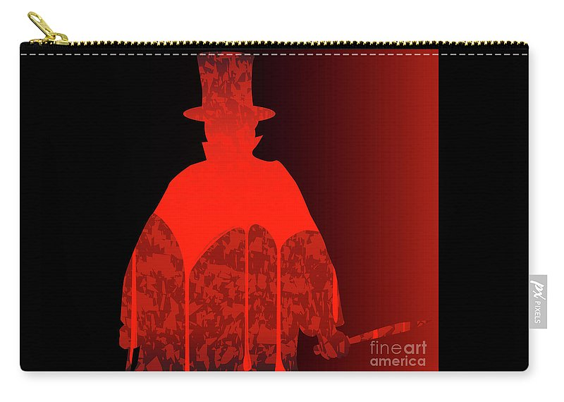 Jack The Ripper Carry-all Pouch featuring the digital art Jack by Bigalbaloo Stock