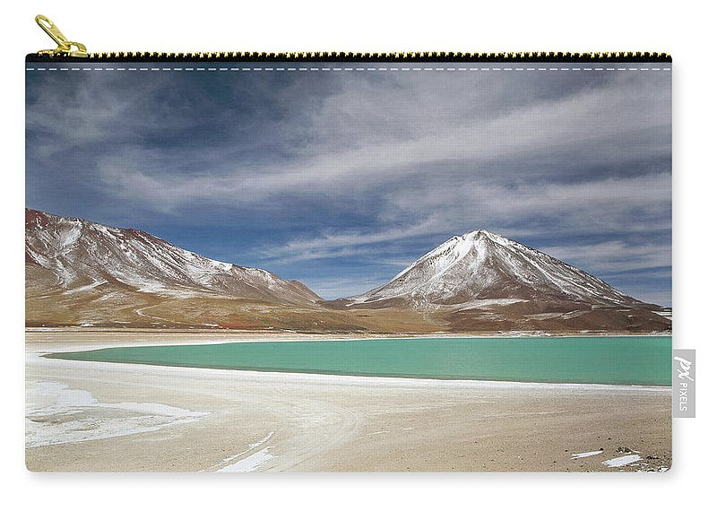 Bolivia Carry-all Pouch featuring the photograph Laguna Verde Is A Salt Lake In The by Cultura Exclusive/philip Lee Harvey