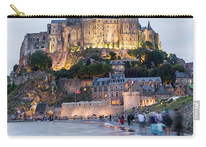 Mont Saint-michel Carry-all Pouch featuring the photograph Le Mont Saint Michel, Normandy, France by John Harper