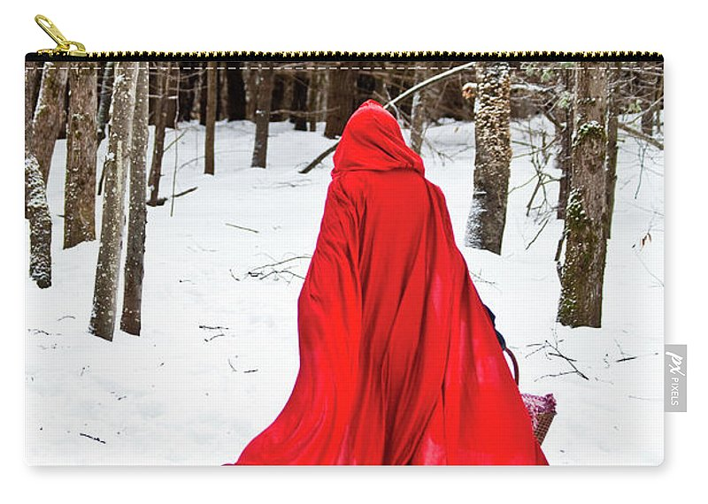 Little Red Riding Hood Carry-all Pouch featuring the photograph Little Red Riding Hood by Trevor Slauenwhite
