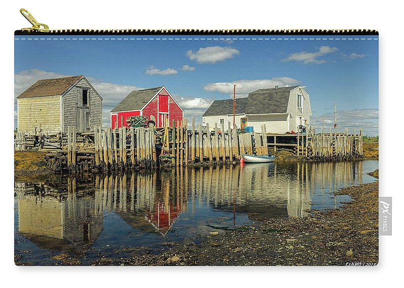 2018 Carry-all Pouch featuring the digital art Low Tide At Blue Rocks 03 by Ken Morris