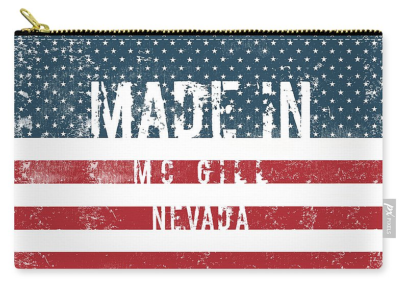 Mc Gill Carry-all Pouch featuring the digital art Made In Mc Gill, Nevada by Tinto Designs