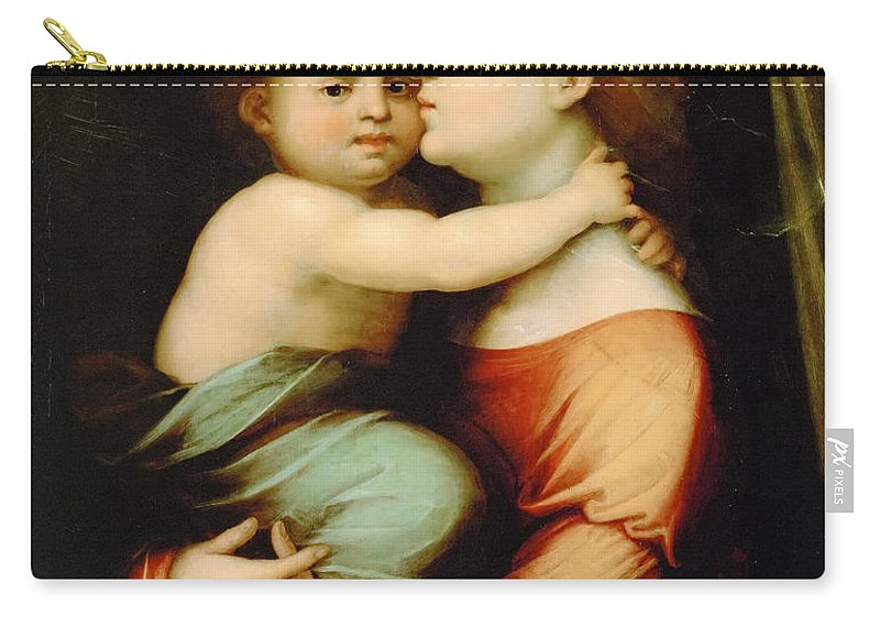 Fra Bartolomeo (1472-1517) Carry-all Pouch featuring the painting Madonna And Child by Fra Bartolomeo