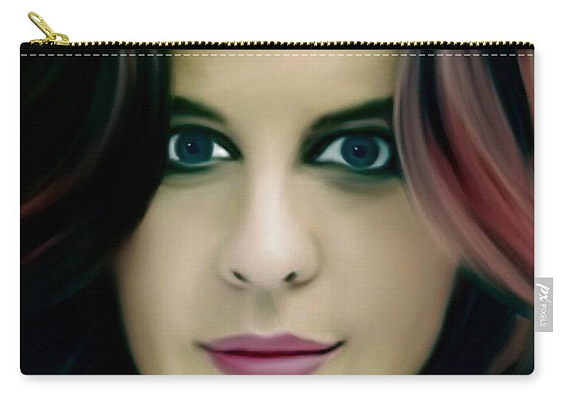 Amanda Clinton Carry-all Pouch featuring the painting Mandy by Jack Bunds