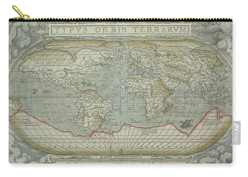 South America Carry-all Pouch featuring the photograph Map Of The World by Hemera Technologies