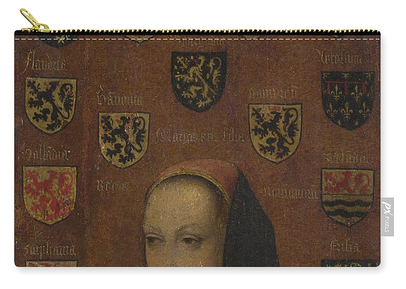 Pieter Van Coninxloo Carry-all Pouch featuring the painting Margaret Of Austria by Pieter van Coninxloo