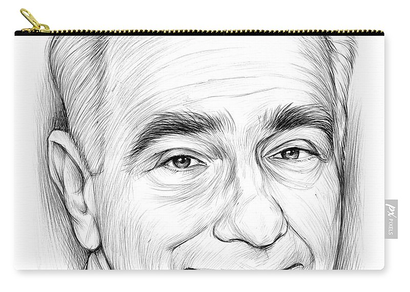 Bic Pen Carry-all Pouch featuring the drawing Martin Scorsese by Greg Joens